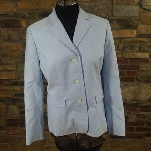 """346"" Brooks Brothers light blue cotton blazer"